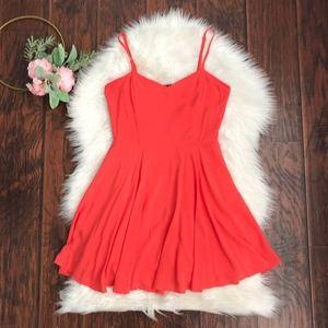 Aritzia lipinski skater dresses red